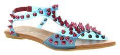jeffrey campbel, god shoe, green spike, puffer sandal, sandal green, sandals, blue sandal, pink spike, campbel amazeri