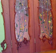 Mahogany Art Glass Doors