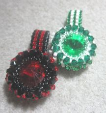 Beaded Spearmint Rings Pattern by Robi Lynn at Bead-Patterns.com