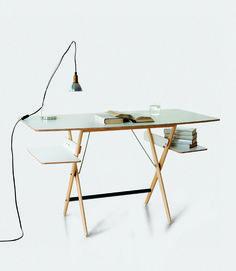 Scrittarello Desk - De Padova  Brand :De Padova  Designer :Achille Castiglioni  Type : Desk    Variations :  White  £910.00  also at Conran shop bit cheaper