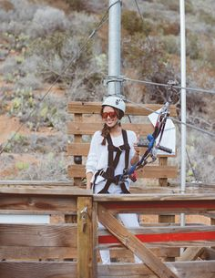 @Aimee Song gets ready to zip line! #CatalinaIsland