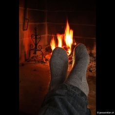 Warm socks  a cozy fire
