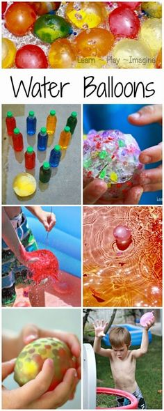 6 unique ways to play with water balloons