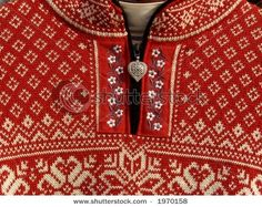 Red woolen Norwegian sweater