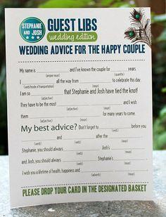 guest lib, shower games, guest books, creative wedding guest book, wedding ideas