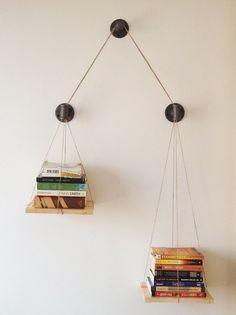 wall decor, balanc bookshelf, idea, bookshelf design, balanc scale, shelves, cush design, design studios, diy projects