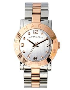 Enlarge Marc by Marc Jacobs Silver and Rose Gold Two Toned Watch