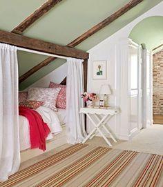 an attic bedroom.. cool