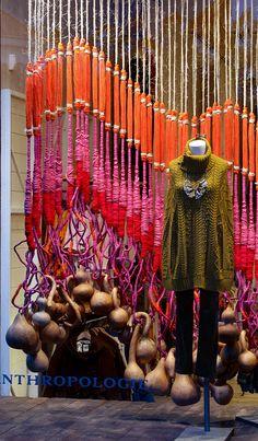 anthropologi window, fall displays, retail displays, window displays, art