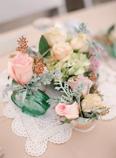 Mint and pinks
