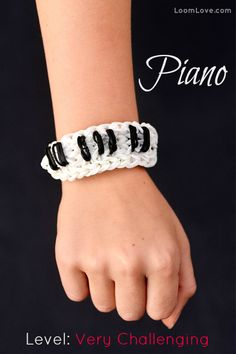 keyboard piano bracelet - rainbow loom