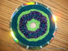 we heart art: radial weaving on CD's