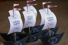 This blog has a few cute ideas for a pirate party