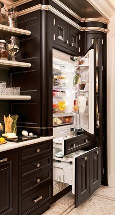 GE Monogram fully-integrated refrigerator....