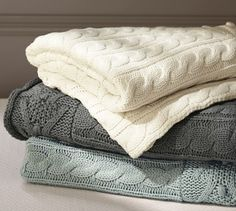 Cable Knit Throw | Pottery Barn