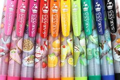 Zebra Limited Edition Sarasa Clip Sweets Party Scented Gel Ink Pens http://www.jetpens.com/Zebra-Limited-Edition-Sarasa-Clip-Sweets-Party-Scented-Gel-Ink-Pen-0.5-mm-5-Color-Set-B/pd/10580