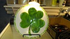 Three leaf clover plate