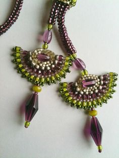 Necklace++Deep+Purple+Amethyst+with+Purple+Green+&+by+JekaLambert,+$165.00