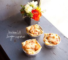 Lasagna Cupcakes™, Heirloom LA Catering (via www.veetje.be)