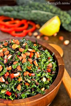 Kale and Wild Rice Salad with Chipotle Maple Almonds