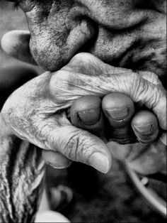 The beauty of age is that love does not die with it....... but rather is strengthened by the storms and all the more beautiful and true.