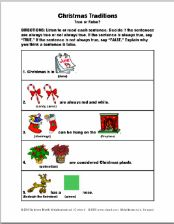 Christmas Traditions: True or False Concept Exercise - pinned by @PediaStaff – Please Visit  ht.ly/63sNt for all our pediatric therapy pins
