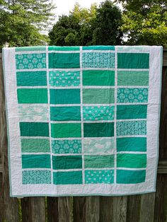 Turquoise Color Study quilt | Flickr - Photo Sharing!