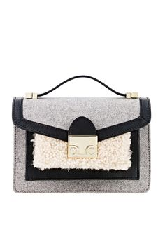 Rent Shearling Mini Rider Bag by Loeffler Randall for $65 only at Rent the Runway.