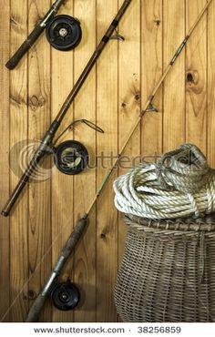 Fishing decor on pinterest fishing poles fishing and for Fishing pole decor