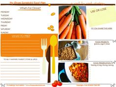 "{FREE DOWNLOAD: FOOD PLANNER} A weekly food planner to organize what to ""use or lose"", what to buy at farmers market/Upick, dinners, food projects (like yogurt or granola) and your weekly food preservation tasks like canning strawberry jam!"