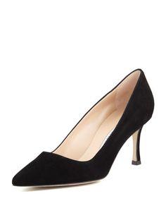 Manolo Blahnik BB Suede Pump: Close the Deal Shoes