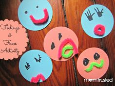 feelings and faces preschool theme mom trusted