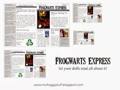 my froggy stuff printables | My Froggy Stuff: Frogwarts Express : A Doll School Newspaper is a free ...