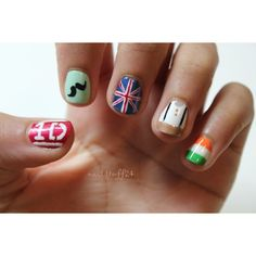 one direction nails found on Polyvore
