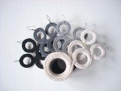 Modern Crochet Earrings