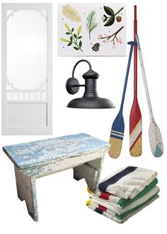 Cottage decor: A collage I made of things for a cottage