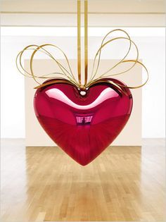 In the spirit of pre-Valentine's Day...Jeff Koons 'Hanging Heart' Sculpture conceptualized in 1994