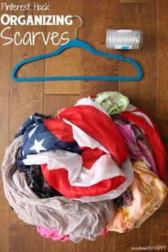 Organizing Scarves -