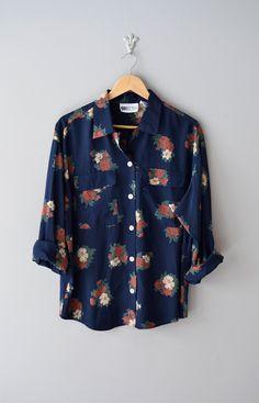 floral blouse via Dear Golden on Etsy.