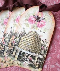 Bee Skep Garden Tags