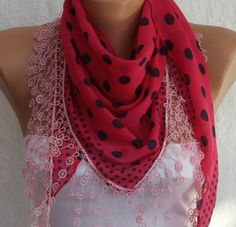 Red Scarf --fatwoman*, $15.00