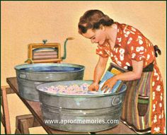 When Monday was washday, a family would have clean sheets by nightfall and a week's freshly laundered clothing. How did they ever manage it?