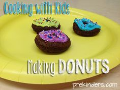 Making Donuts: cooking with kids doughnut, kid