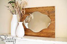 DIY Mirror, Pallet Art DIY Home Decor