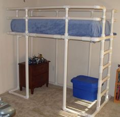 PVC pipe bed