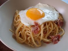 Heaven on a plate - prosciutto and parmesan pasta - Chubby Hubby