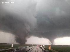 Dueling tornadoes near Pilger, Nebraska June 16, 2014  CREDIT: Aaron Rigsby