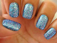 blue glitter!