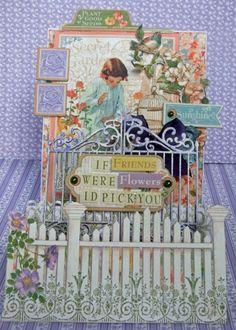 Step Card- Secret Garden