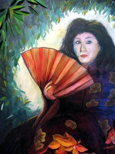 Just a painting of a beautiful Chinese girl.